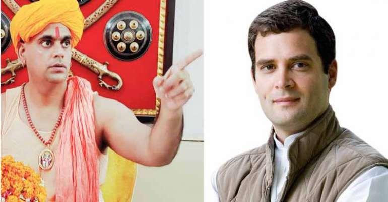 രാഹുല് ഗാന്ധി സ്വവര്ഗ്ഗാനുരാഗിയാണെന്ന് ഹിന്ദു മഹാസഭ നേതാവ്