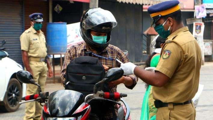 kerala police, lock down